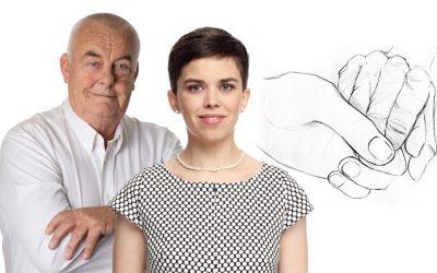 Se seniory oseniorech. Olga Richterová aAntonín Pokorný debatovali nejen ogeneračním sblížení